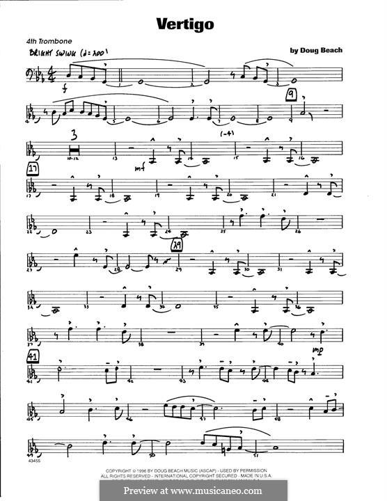 Vertigo: 4th Trombone part by Doug Beach