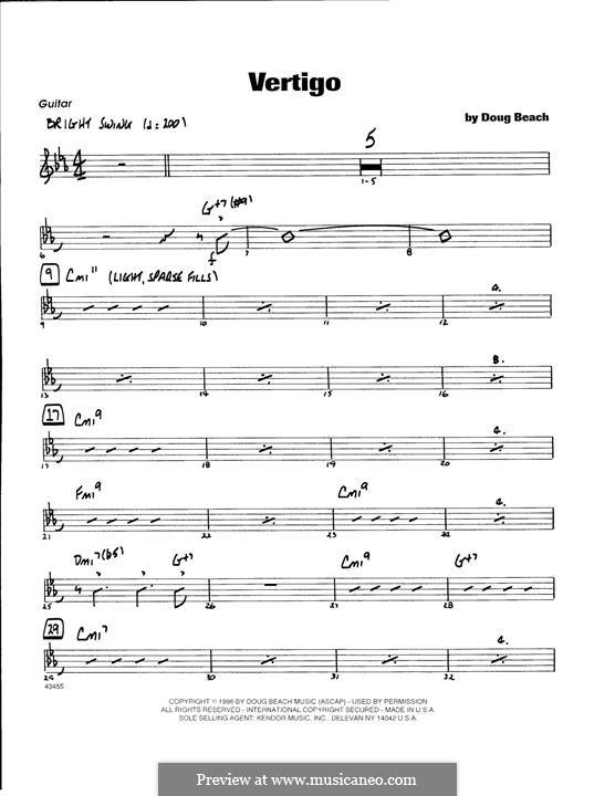 Vertigo: Piano part by Doug Beach