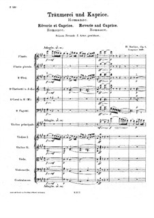Rêverie et Caprice for Violin and Orchestra, H.88 Op.8: Full score by Hector Berlioz