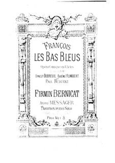 François les Bas-Bleus: Version for piano by Firmin Bernicat