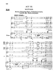 Madame Sherry: Act III, for Voices and Piano by Hugo Felix
