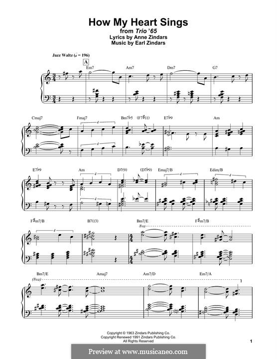 How My Heart Sings: For easy piano by Bill Evans