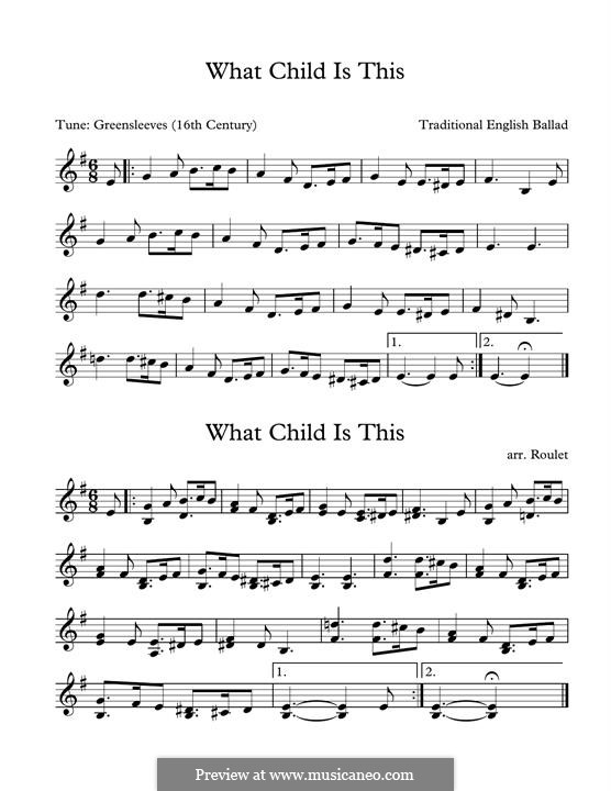 What Child is This (Christmas Carol): For marimba by folklore