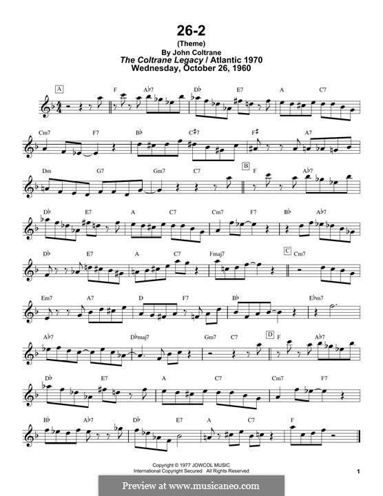 26-2: 26-2 by John Coltrane