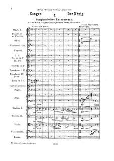 Kongen (The King). Music to Drama by B. Bjørnson, Op.19: Kongen (The King). Music to Drama by B. Bjørnson by Johan Halvorsen