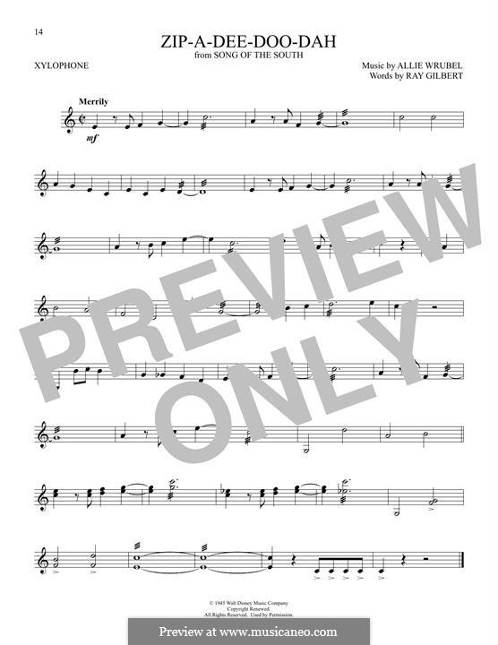 Zip-A-Dee-Doo-Dah: For xylophone by Allie Wrubel