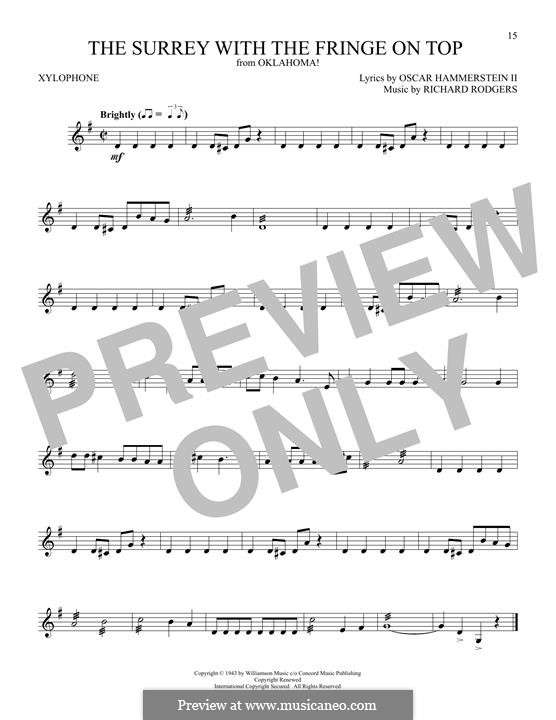 The Surrey with the Fringe on Top: For xylophone by Richard Rodgers