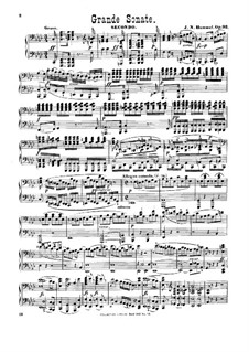 Sonata for Piano Four Hands in A Flat Major, Op.92: First part, second part by Johann Nepomuk Hummel