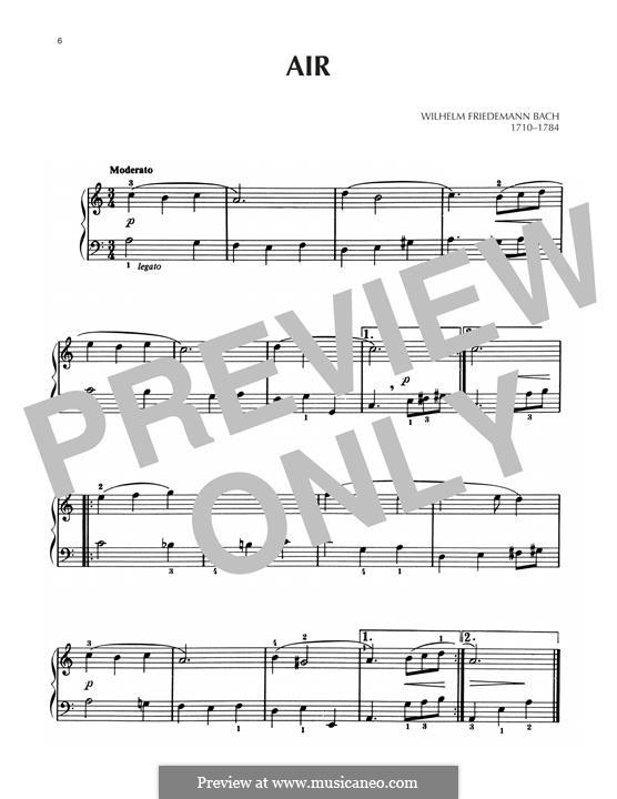 Air in A Minor: Air in A Minor by Wilhelm Friedemann Bach