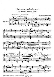 Aphorismen, Op.51: No.7 Bizzarramente e giocondamente by Sigfrid Karg-Elert