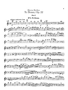 Te Deum, H.118 Op.22: Oboes and cor anglais parts by Hector Berlioz