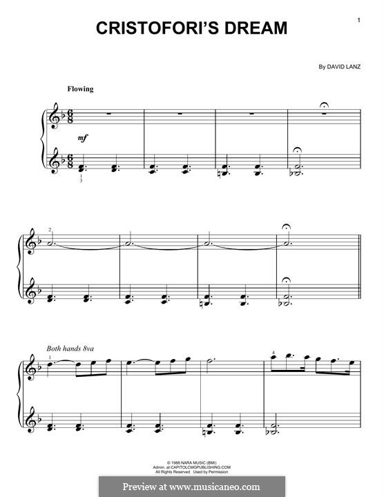 Cristofori's Dream: For easy piano by David Lanz