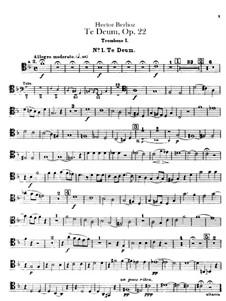 Te Deum, H.118 Op.22: Trombones and tuba parts by Hector Berlioz