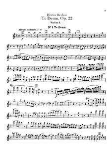 Te Deum, H.118 Op.22: Violin I part by Hector Berlioz