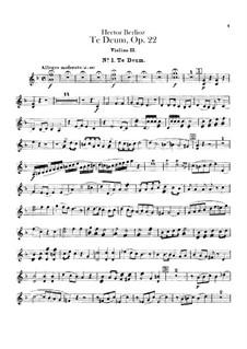 Te Deum, H.118 Op.22: Violin II part by Hector Berlioz