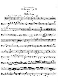 Te Deum, H.118 Op.22: Double bass part by Hector Berlioz