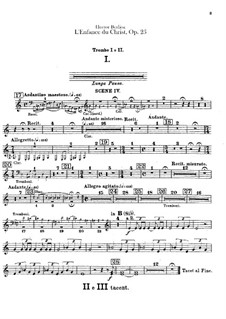 L'enfance du Christ (The Childhood of Christ), H.130 Op.25: Trumpets and cornets parts by Hector Berlioz