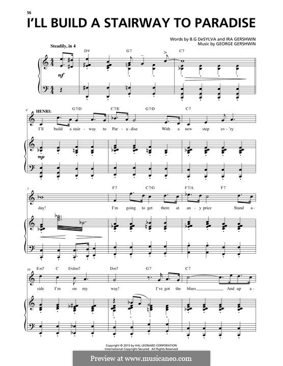 I'll Build a Stairway to Paradise: For voice and piano by George Gershwin