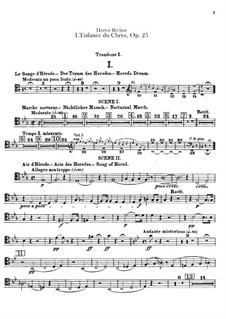 L'enfance du Christ (The Childhood of Christ), H.130 Op.25: Trombones parts by Hector Berlioz