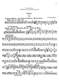 L'enfance du Christ (The Childhood of Christ), H.130 Op.25: Timpani part by Hector Berlioz