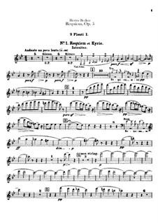 Grande Messe des morts (or Requiem), H.75 Op.5: Flutes parts by Hector Berlioz