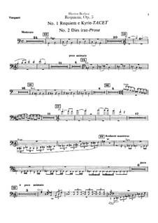 Grande Messe des morts (or Requiem), H.75 Op.5: Timpani parts by Hector Berlioz