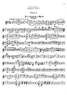 Grande Messe des morts (or Requiem), H.75 Op.5: Violins I part by Hector Berlioz