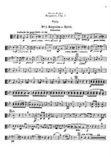 Grande Messe des morts (or Requiem), H.75 Op.5: Violas part by Hector Berlioz