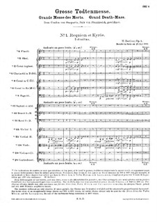 Grande Messe des morts (or Requiem), H.75 Op.5: Full score by Hector Berlioz