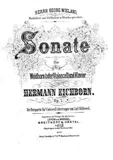 Sonata for French Horn (or Cello) and Piano, Op.7: Score by Hermann Ludwig Eichborn