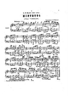 Tamerlano, HWV 18: Minuet, for Piano by Georg Friedrich Händel