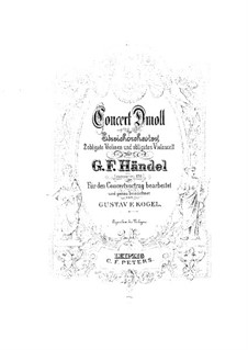 Concerto Grosso No.10 in D Minor, HWV 328: Full score by Georg Friedrich Händel