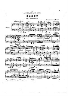 Ariodante, HWV 33: Rondo, for Piano by Georg Friedrich Händel