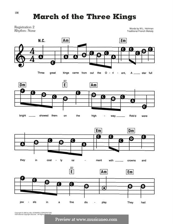 March of the Kings: For piano by folklore