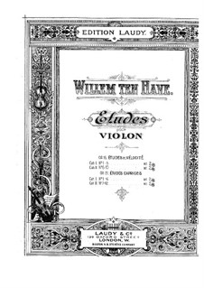 Etudes for Violin, Op.15: Etudes for Violin by William ten Have