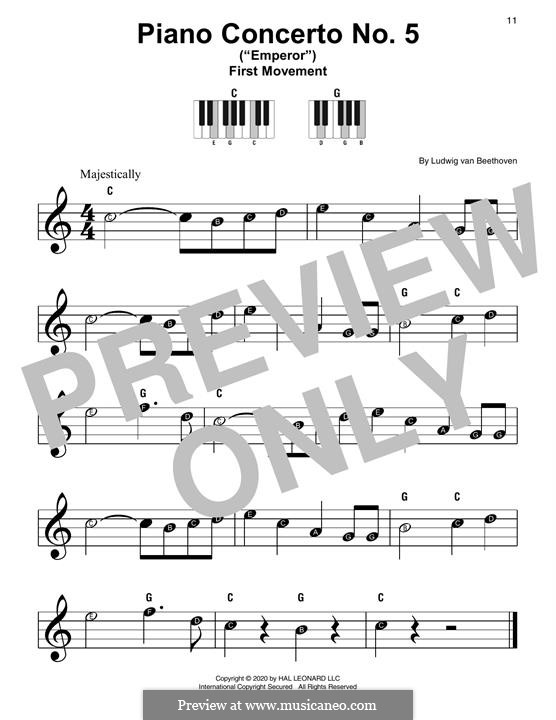 Fragments: Movement I, Theme, for piano by Ludwig van Beethoven