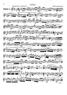 Three String Trios, Hob.XVI/40-42 Op.53: Violin part by Joseph Haydn