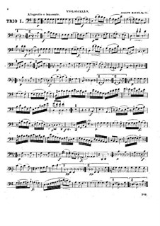 Three String Trios, Hob.XVI/40-42 Op.53: Cello part by Joseph Haydn