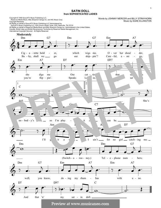Satin Doll: For keyboard by Billy Strayhorn, Duke Ellington