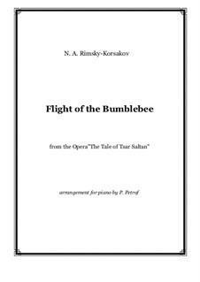 Flight of the Bumblebee: For piano solo by Nikolai Rimsky-Korsakov
