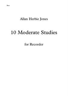 10 Moderate Studies: For bass recorder by Allan Herbie Jones