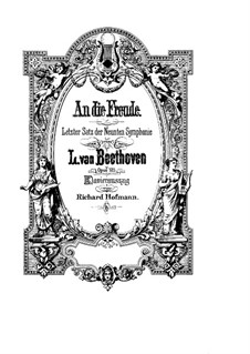 Ode to Joy: Piano-vocal score by Ludwig van Beethoven