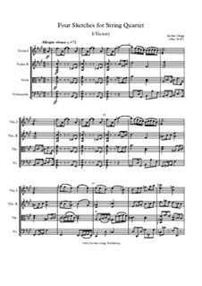 Four Sketches for String Quartet: Four Sketches for String Quartet by Jordan Grigg