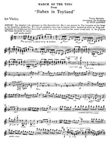 March of the Toys: Strings parts by Victor Herbert