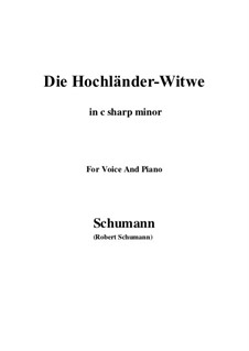 No.10 Die Hochländer-Witwe (Highland Widow's): C sharp minor by Robert Schumann