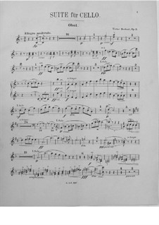 Suite for Cello and Orchestra, Op.3: Oboe part by Victor Herbert