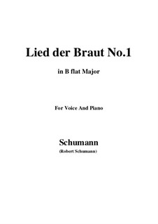 No.11 Lied der Braut (Bride's Song): B flat Major by Robert Schumann