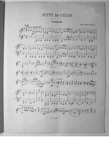 Suite for Cello and Orchestra, Op.3: Clarinet part by Victor Herbert
