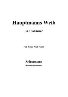 No.19 Hauptmann's Weib (La femme du chef): E flat minor by Robert Schumann
