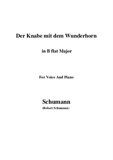 Three Poems, Op.30: No.1 Der Knabe mit dem Wunderhorn (B flat Major) by Robert Schumann